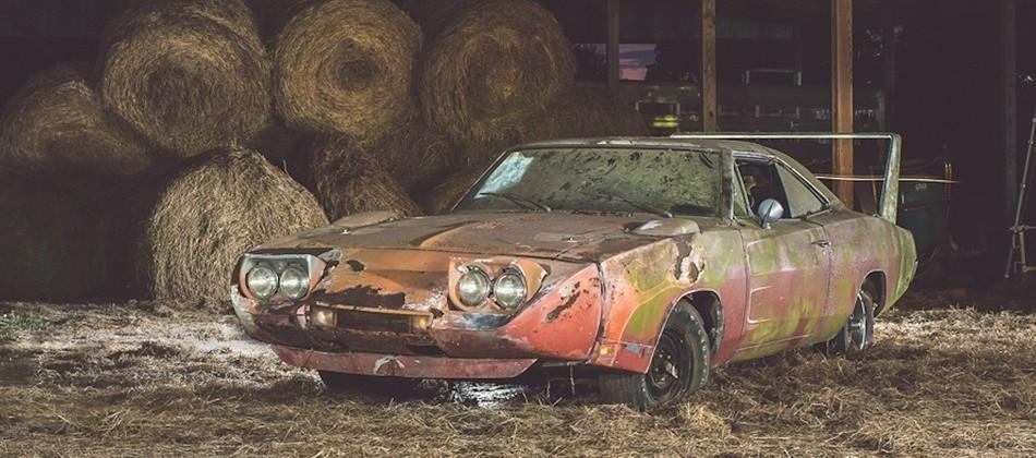 1969 Dodge Daytona left to rust in barn now worth $180K