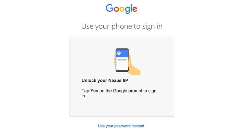 Google experiments with password-free logins
