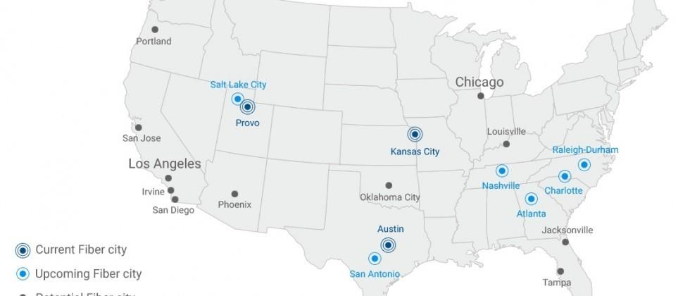 Google Fiber adds Los Angeles, Chicago to potential cities list