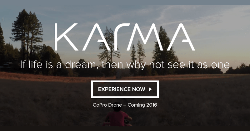 Karma is what GoPro named its drone, coming 2016
