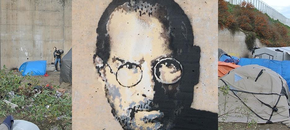 Why Banksy just painted Steve Jobs