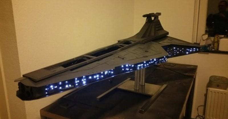 Custom Star Destroyer houses a full gaming PC
