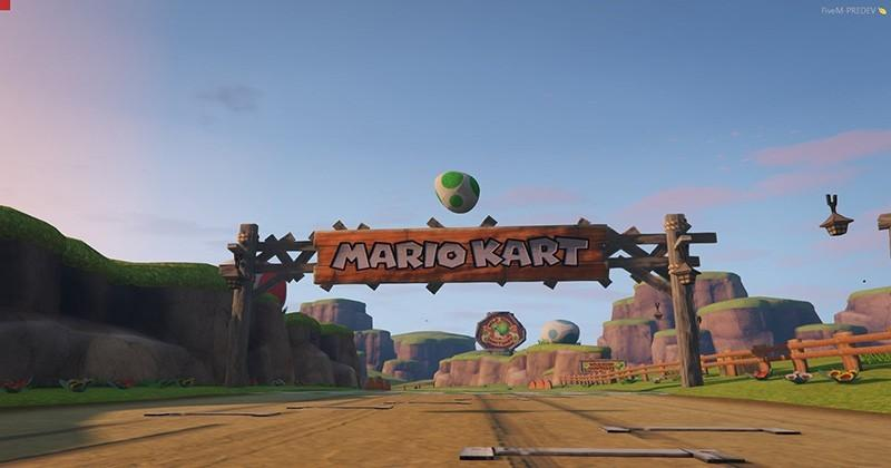 Mario Kart 64 track recreated in GTA V