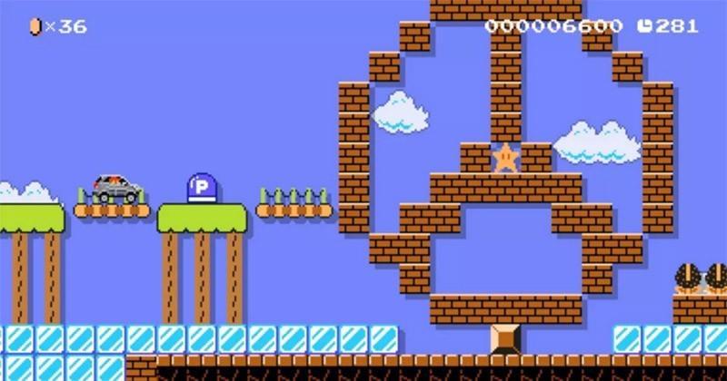 Super Mario Maker level turns you into a Mercedes-Benz GLA