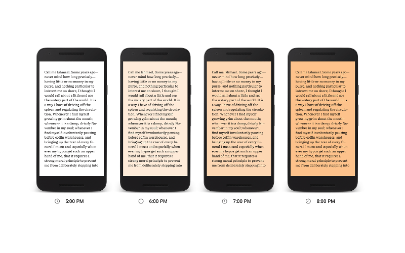 Google Play Books' Night Light gives your eyes a rest before