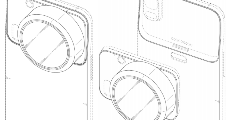 Samsung patents Edge-like phone with two Xenon flash, modular camera