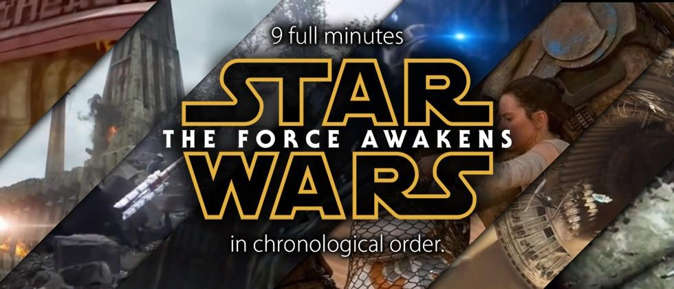 9-minute Star Wars The Force Awakens trailer uses ALL the clips
