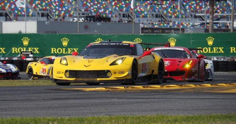 Chevy Corvette C7.Rs take top two spots at Rolex 24 GTLM race