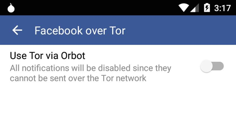 Facebook mobile app supports anonymous connections via Tor