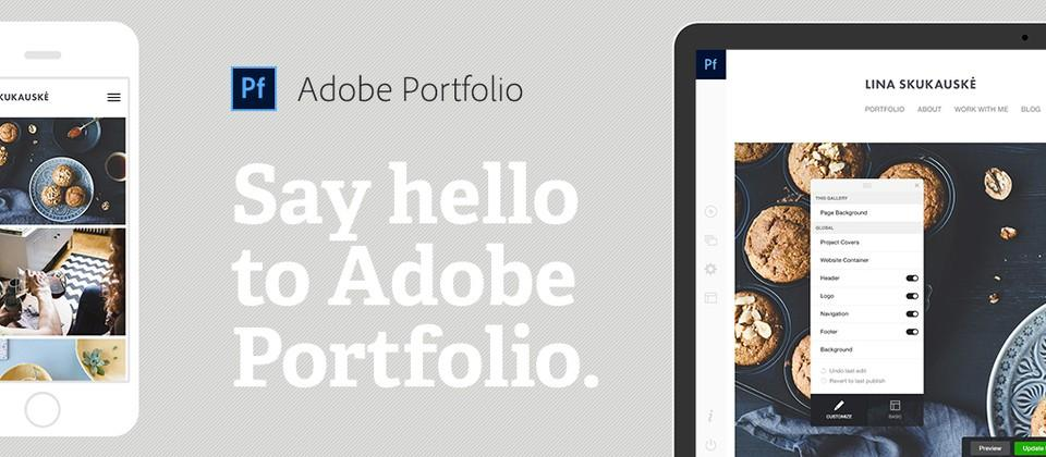 Adobe Portfolio lets anyone create a simple website