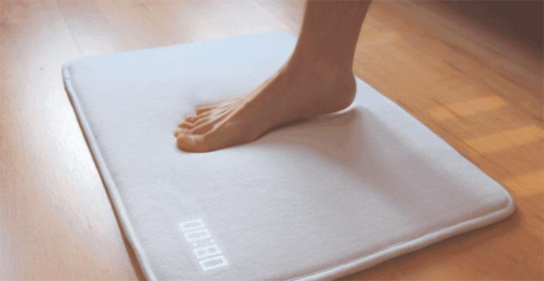 Ruggie makes you step on it to silence morning alarm