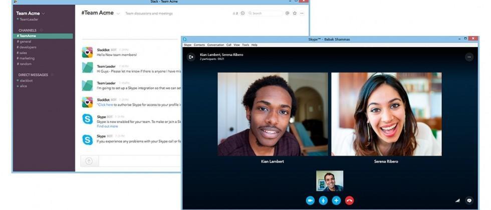 Skype preview adds Slack integration