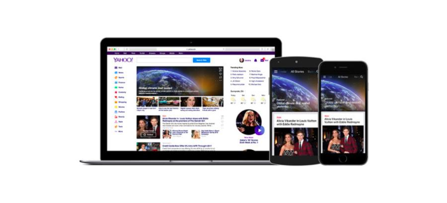 Yahoo updates app, homepage with streamlined design