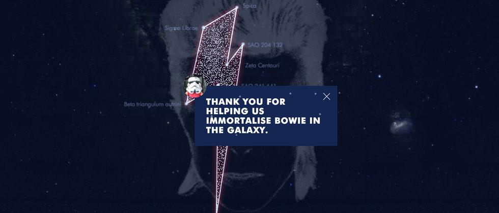 David Bowie constellation now lights your night sky