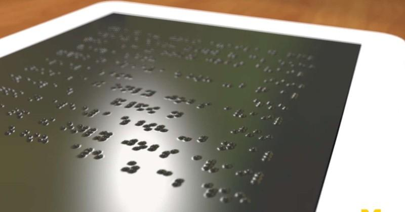 Screen that can dynamically display Braille might be coming