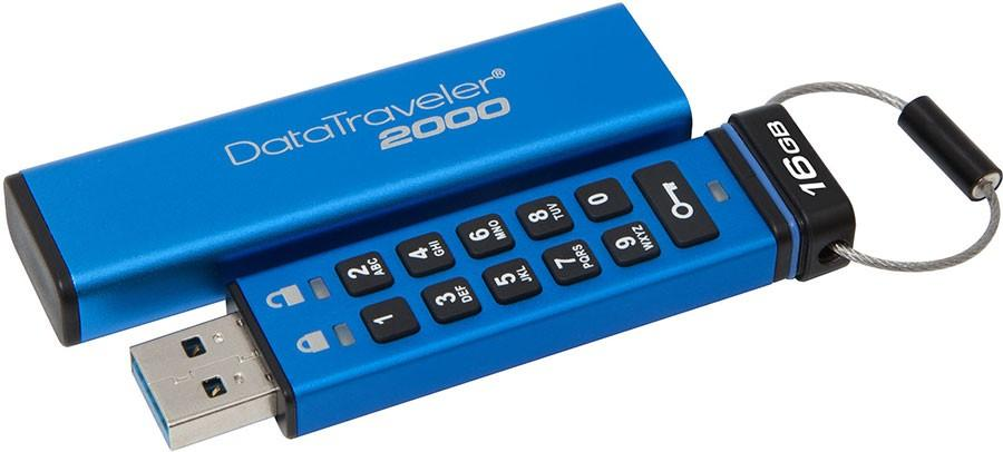 Kingston DataTraveler 2000 has keypad encryption