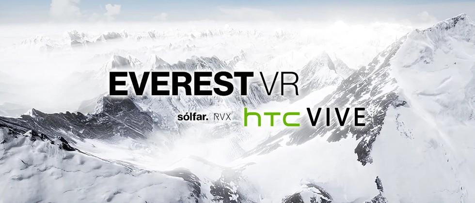 Climbing Mount Everest with the HTC Vive Pre VR headset