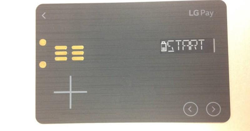 LG Pay White Card leaks with LCD strip, buttons