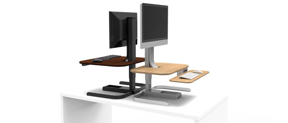 NextDesk CrossOver makes any desk a standing desk