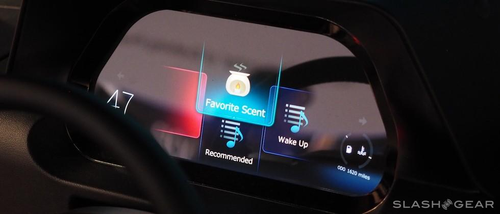 Pioneer's smart car concept system hands-on: smells nice