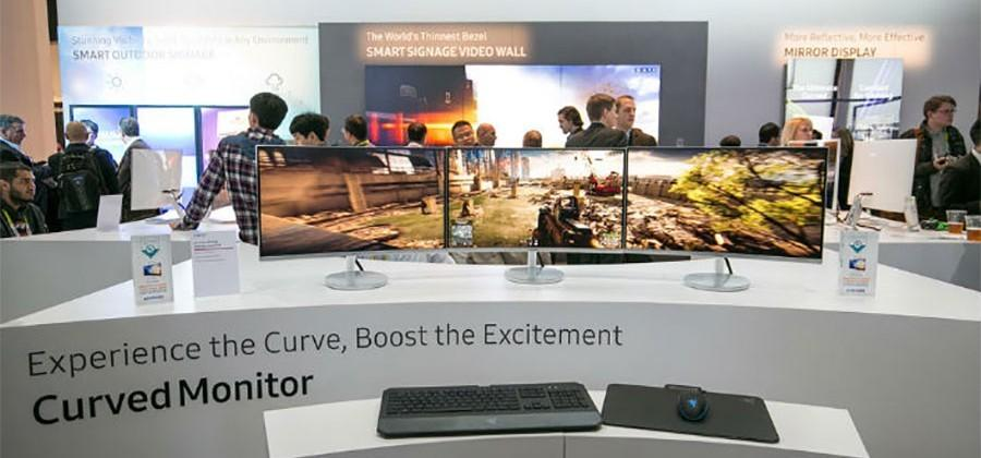 Samsung unveils curved gaming monitors at CES 2016