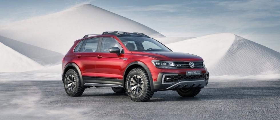 VW Tiguan GTE Active Concept shows hybrids can be tough, too