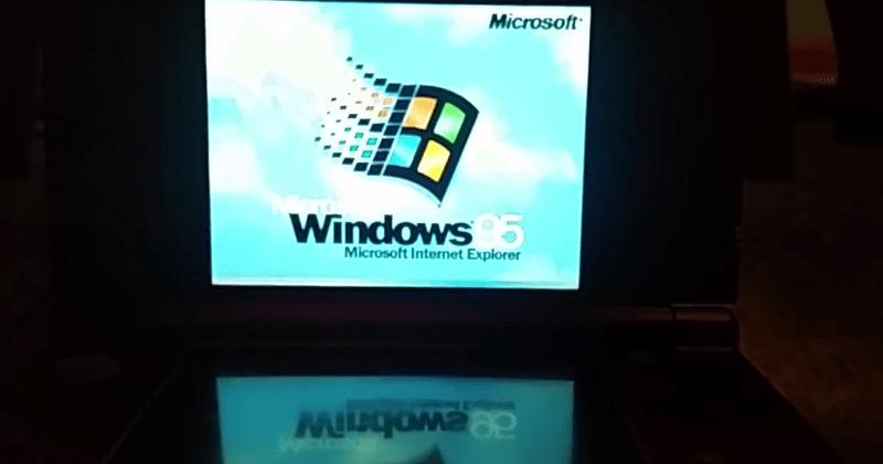 Nintendo 3DS runs Windows 95, for real