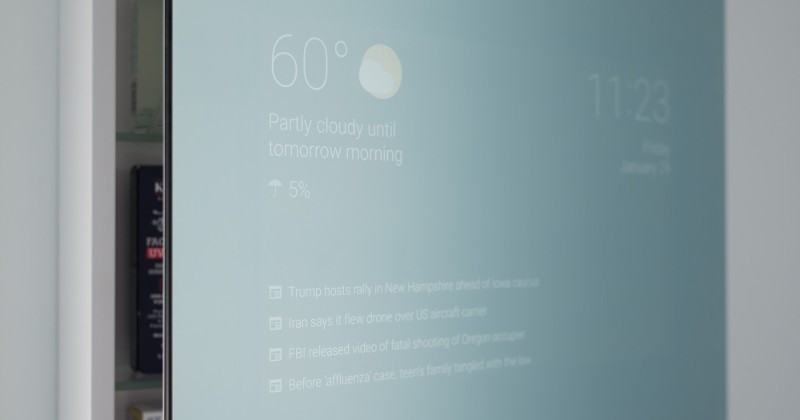 Google Now where it matters most: the bathroom mirror