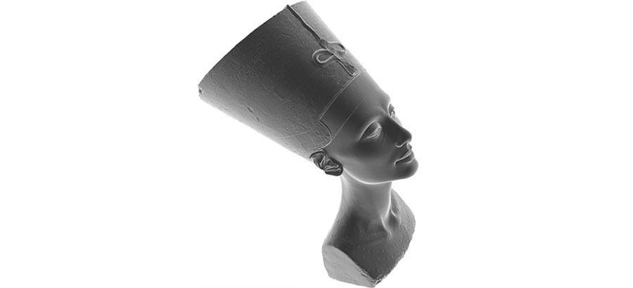 Nefertiti bust secretly scanned, 3D model released to public