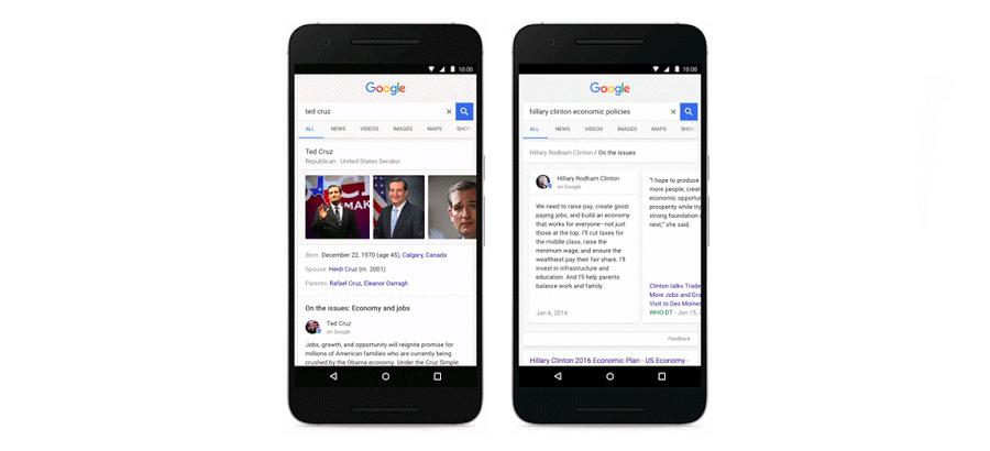 Google Search adds more ways to track politics