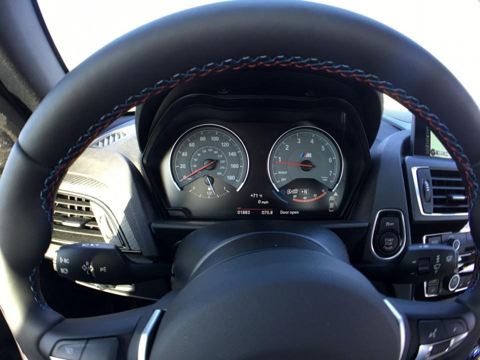 2016 BMW M2 gauges
