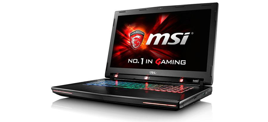 MSI GT72S G Tobii laptop uses eye tracking to control games