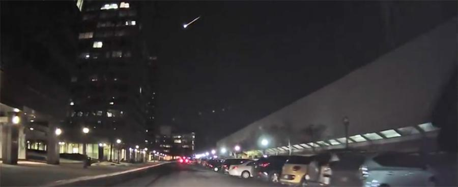 Fireball over northeastern U.S. skies was a meteor