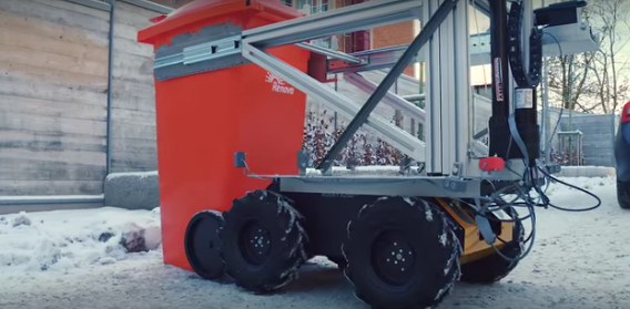 Volvo's drone-guided garbage-lifting robot is now a working prototype