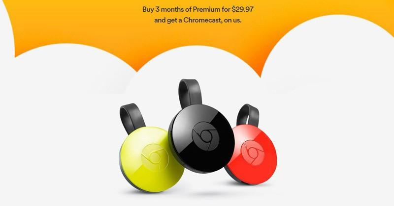 Spotify is giving away Chromecasts with a 3-month Premium subscription