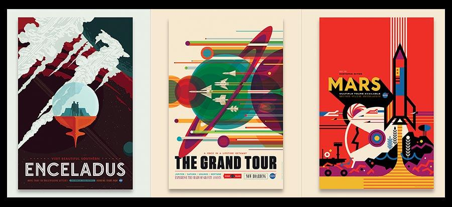 NASA's latest travel posters tease Mars and more