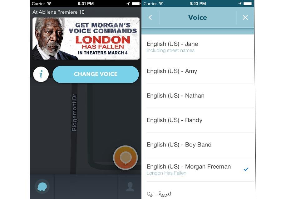 Waze adds Morgan Freeman's voice as latest celebrity