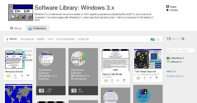 Internet Archive now has, and runs, Windows 3.1 programs