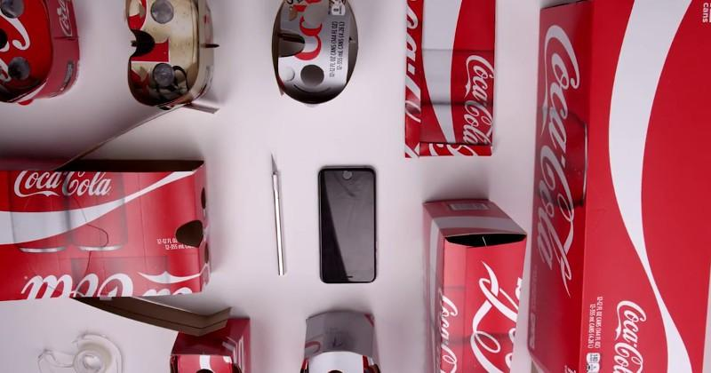 Coca-Cola packaging can be reused into a Cardboard VR headset