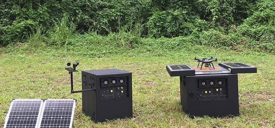 Dronebox autonomous recharging station lets UAVs operate for months