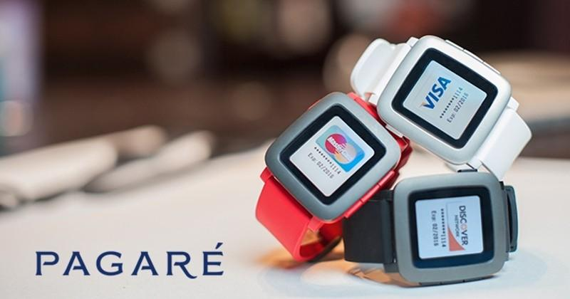 Pagare smartstraps turn Pebble Time into payment machines