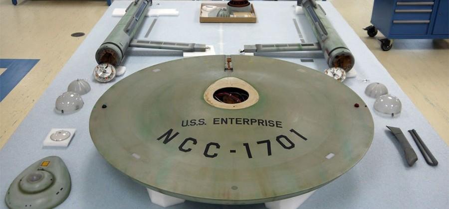 USS Enterprise restoration underway at the Smithsonian