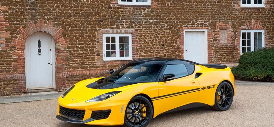 What's Yellow, Black and 70kg lighter? The Lotus Evora Sport 410