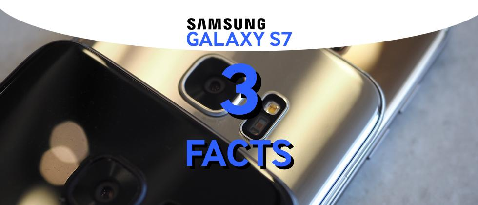 Samsung Galaxy S7 tiny facts: Camera Bump, Rubbery Gasket, Battery