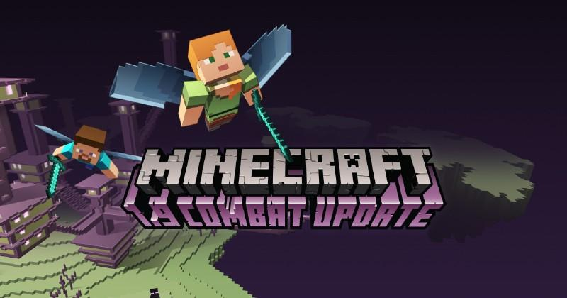Minecraft's Combat Update adds off-hand items and cooldown timers