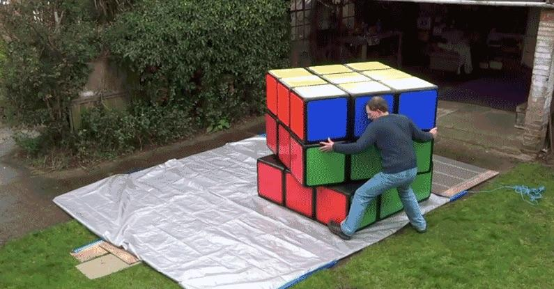 This may be the world's largest Rubik's Cube
