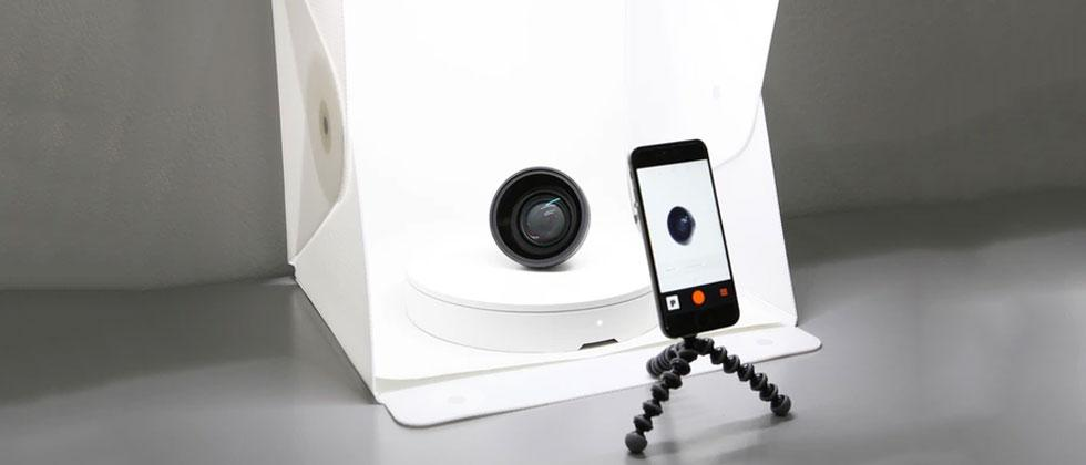 Foldio360 is a turntable for interactive photos