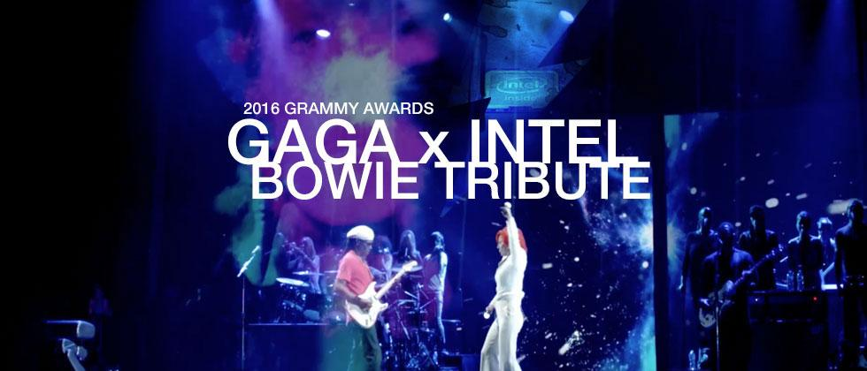 Lady Gaga's David Bowie tribute: behind the scenes with Intel x Grammys
