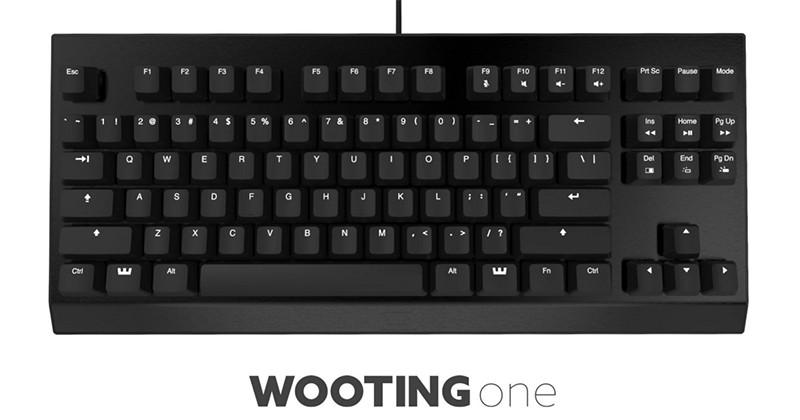Wooting One is the world's first analog keyboard