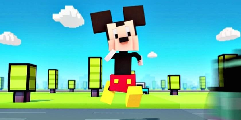 Disney Crossy Road is coming, see Mickey Mouse run for his life